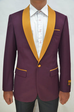Dinner Jacket - Burgundy/Gold