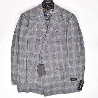 9842-425 Dominique Wilkins Vested Peak Lapel Suit