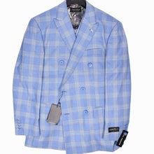 Load image into Gallery viewer, 9842-422 Dominique Wilkins Vested Peak Lapel Suit