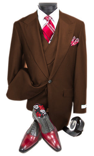 Mens Suits Detroit Michigan - Gadson-54 Brown - Wholesale Mens Suits - Wholesale Suits