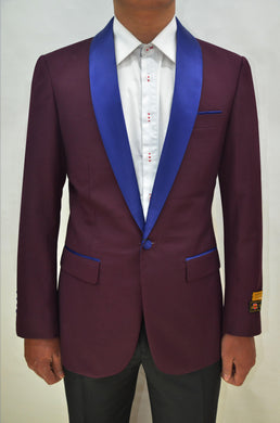 Dinner Jacket - Burgundy/Navy