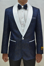 Load image into Gallery viewer, Paisley-300 Navy/White - Mens Wholesale Blazers