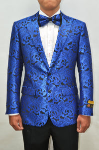 Paisley-100 Royal Blue
