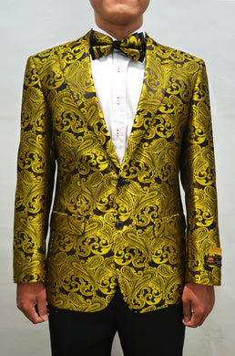 Paisley-100 Gold - Mens Wholesale Blazers