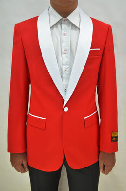 Dinner Jacket - Red/White