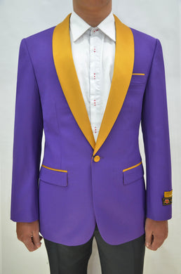 Dinner Jacket - Purple/Gold