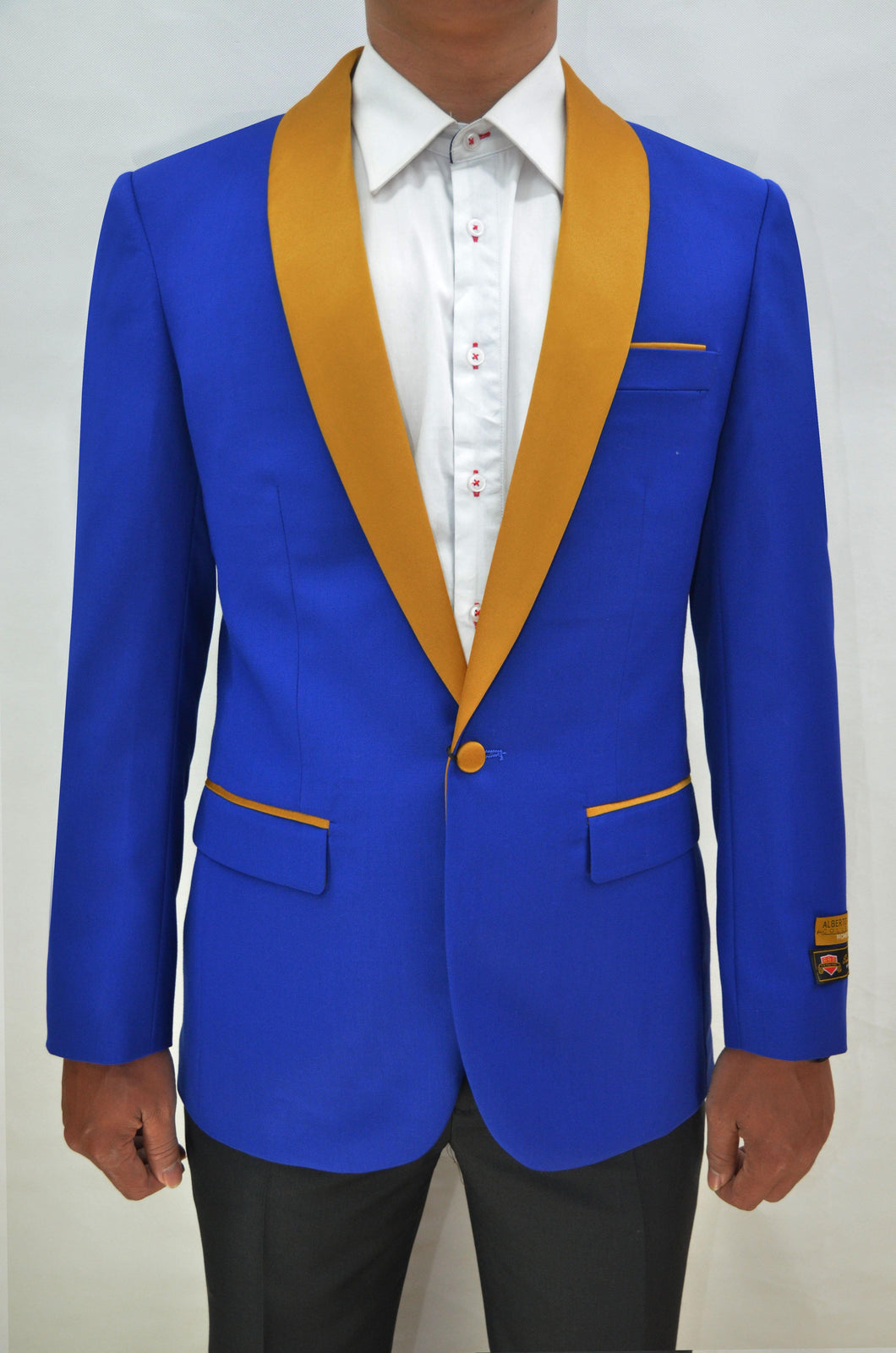 Dinner Jacket - Royal Blue/Gold
