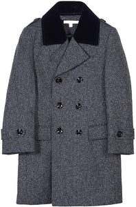 Isaac Mizrahi Boys' Velvet Quilt 2-20 Peacock - Navy Tweed