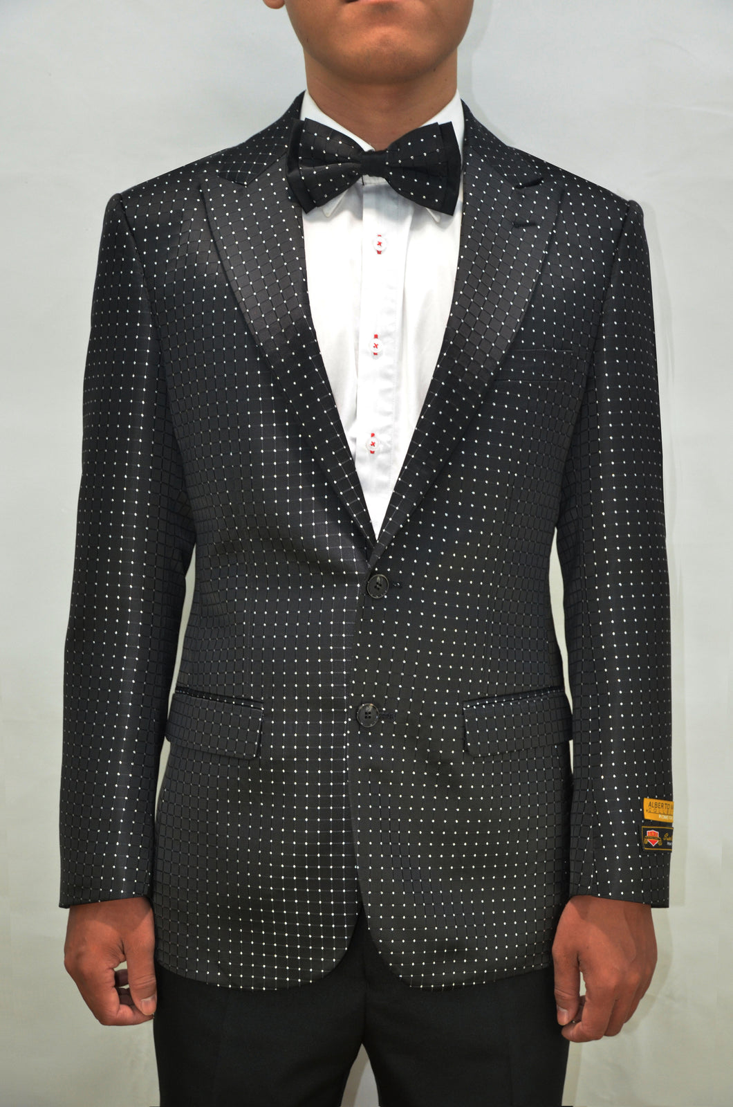 Paisley-100 Black/White - Mens Wholesale Blazers