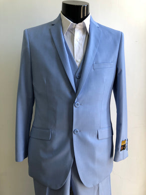 Slim Fit Prom Suits - Skinny - Sky