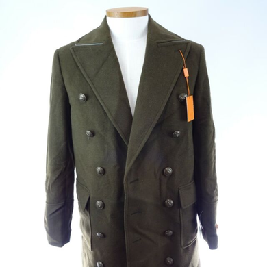 Solid Military Wool Blend Overcoat - AlbertoNardoniStore