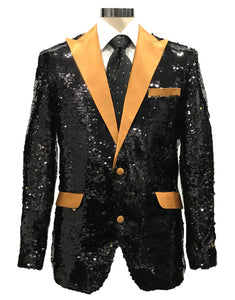 Sequins-3 Black/Gold