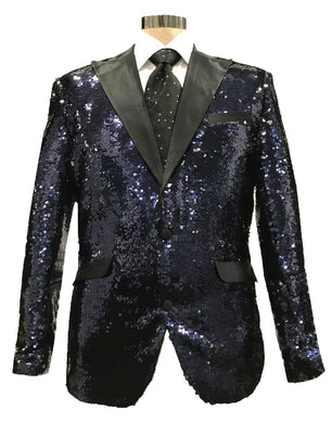 Sequins-3 Navy/Silver