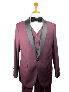 26-C-Tux-SH	Burgundy-Blk -  Tuxedo Wholesale  Distributors - AlbertoNardoniStore