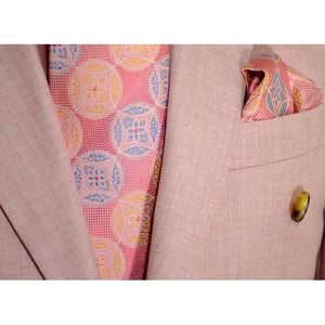 Solid Light Pink Single Button Double Breasted Classic Fit Suit RLBP46 | Suits Beverly Hills