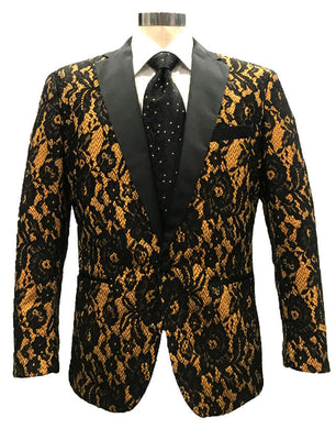 N-115 Black/Camel - Mens Wholesale Blazers