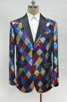 Fashion-6#  Rainbow - Mens Wholesale Blazers