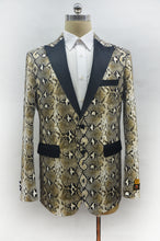 Load image into Gallery viewer, Mens Snakeskin Jacket - Mens Snakeskin Blazer Snake Skin
