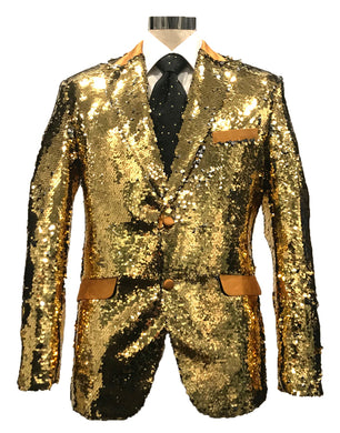 Mens Silver Sequin Blazer