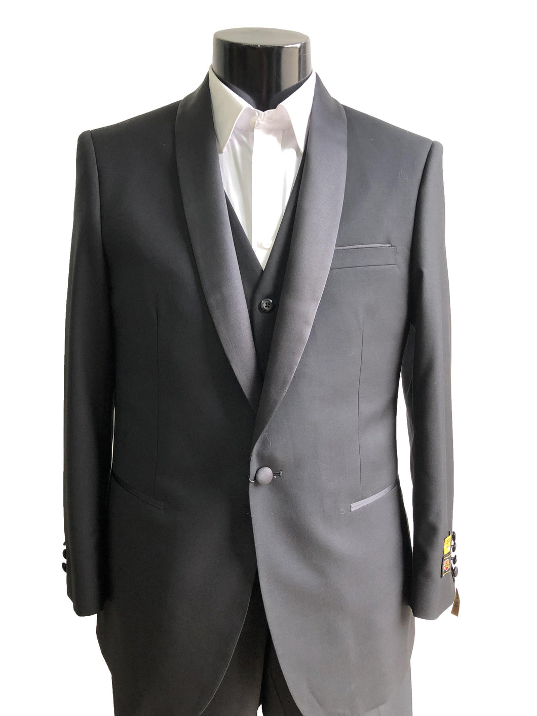4-A-1BShawl-Tux	Black -  Tuxedo Wholesale  Distributors - AlbertoNardoniStore