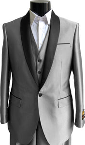 NLO-Shark-Tux	Silver -  Tuxedo Wholesale  Distributors
