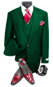 Mens Suits Detroit Michigan - Gadson-54 Hunter Green - Wholesale Mens Suits - Wholesale Suits