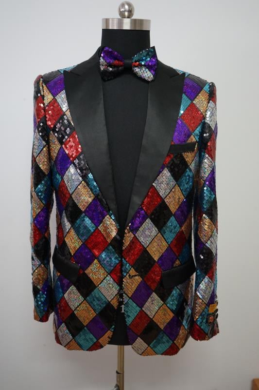 Sequin Blazer - Multicolor