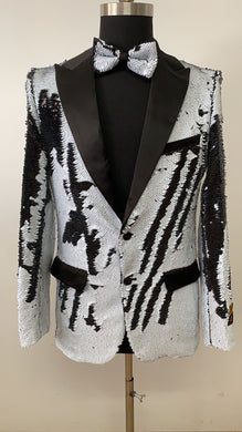 Sequin Blazer - Black and White