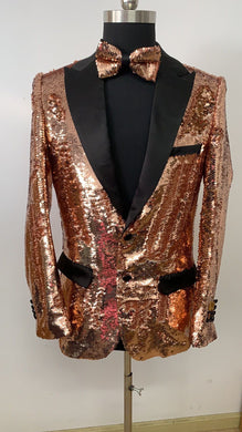 Sequin Blazer - Gold