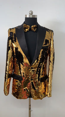 Sequin Blazer - Black Golden