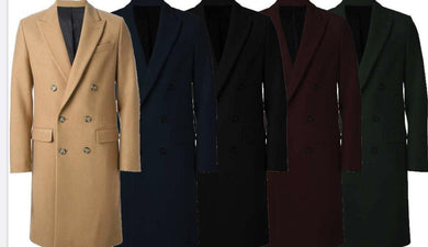 DB Coat Mens Full Length Overcoat