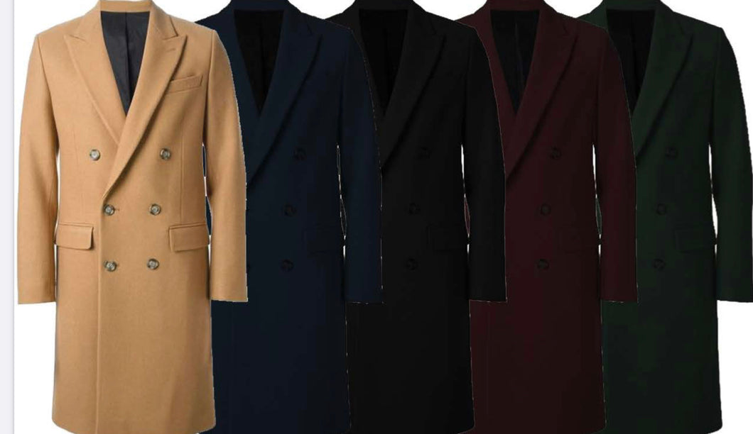 Mens Full Length Overcoat