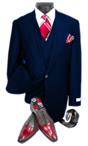 Mens Suits Detroit Michigan - Gadson-54 Navy - Wholesale Mens Suits - Wholesale Suits