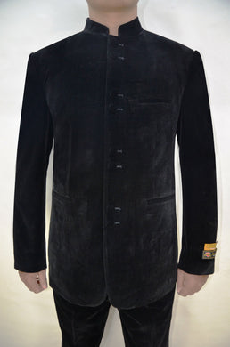 Mens Clergy Suits - Black Velvet