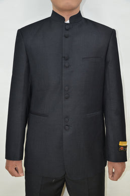 Mandarin Suit - Black