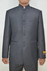 Mandarin Suit - Charcoal