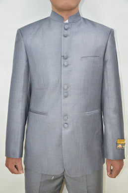 Mandarin Suit - Light Grey