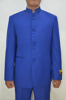 Mandarin Suit - Royal Blue
