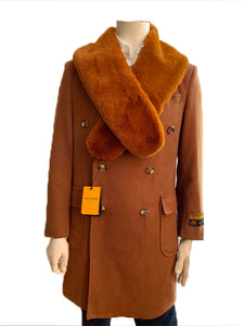 "Mens Wool Trench coat - ""Camel"" Color Mens Overcoat"