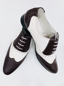 Martini-25  Dark Brown/White