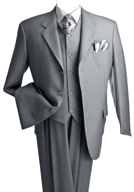 Suits For Big Guys - Suits For Big men LT. Gray