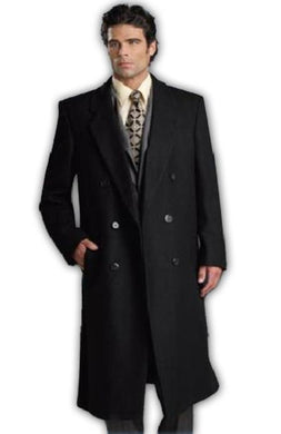 Man Bent Fully Lined Double Breasted 6 Buttons Men's Dress Coat Wool Long Long Mens Dress Topcoat - Winter Coat ~ Overcoat Designer Mens Wool Peacoat Sale