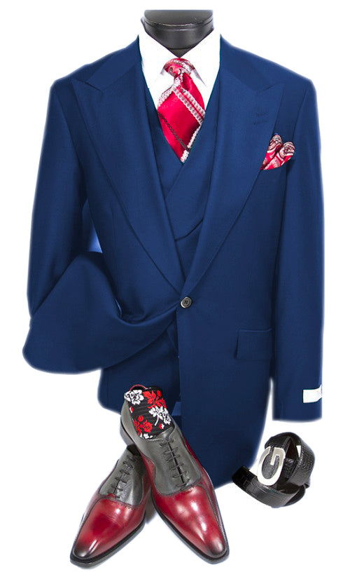 Mens Suits Detroit Michigan - Gadson-54  Sapphire - Wholesale Mens Suits - Wholesale Suits