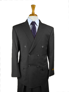 Solid Black - Mens Wholesale Suit