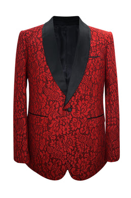 Paisley-502 Red - Mens Wholesale Blazers