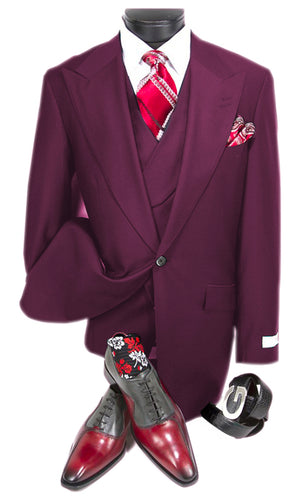 Mens Suits Detroit Michigan - Gadson-54  Plum - Wholesale Mens Suits - Wholesale Suits