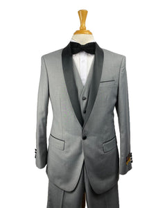 29C-Tux-Shawl	Lt-Gray-Black -  Tuxedo Wholesale  Distributors - AlbertoNardoniStore