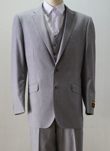 Gray 3 Piece Suit - Mens Gray 3 Piece Suit