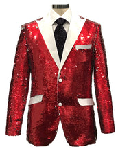 Load image into Gallery viewer, Sequins-3 Red/White