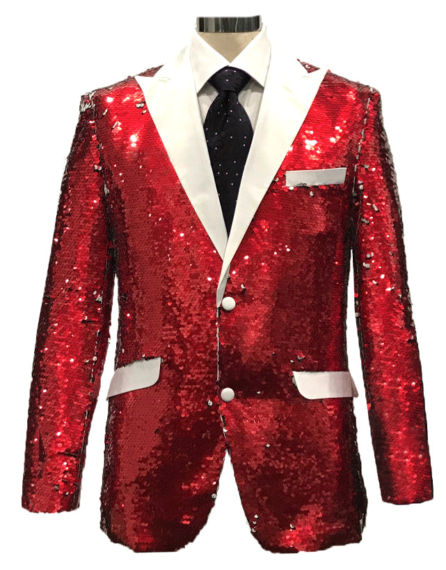 Sequins-3 Red/White